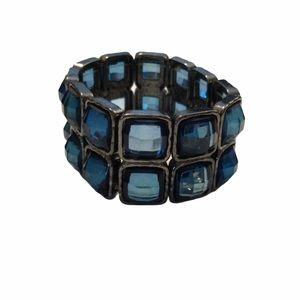 J Crew Stretch Blue Gemstone Bracelet